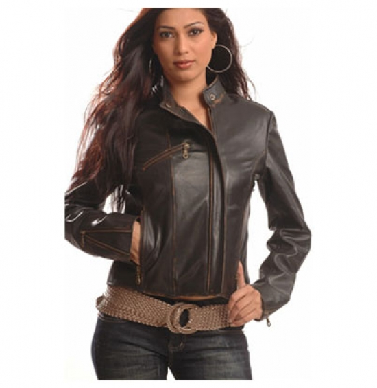 Woman leather jacket for sale in Sialkot on English