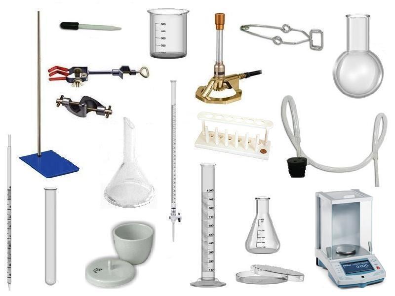 dibujos de los instrumentos de laboratorio: