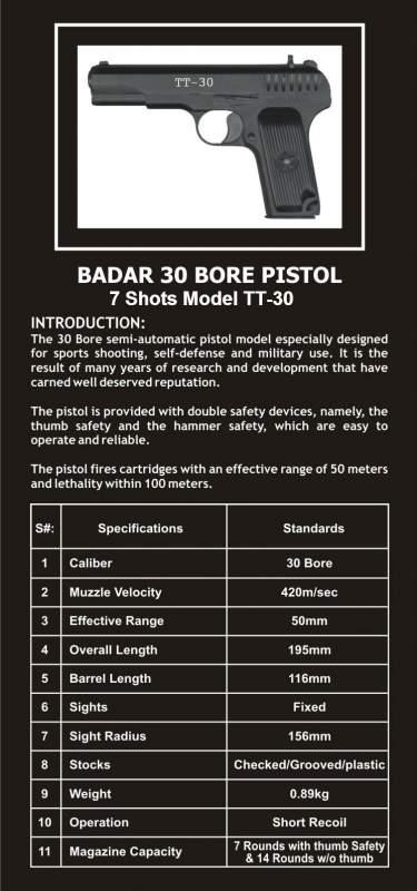Buy Pistol 30 bore