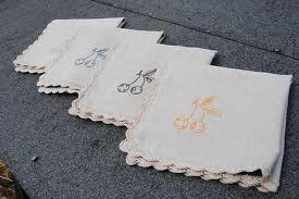 Napkins and table tops