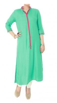 Buy IVORY Indian Hand Embroidered Kurta Tunic Women's Cotton Fabric 2013