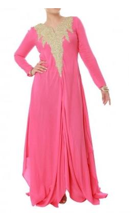 Buy Pink Preety Sexy Sleeve Self Pattern Peach Tunic 2013