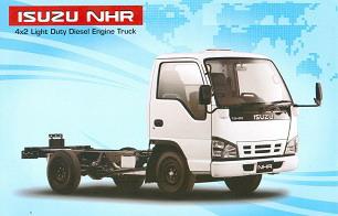 ISUZU NHR 4 x 2 Light Duty Diesel Engine Truck Chassis