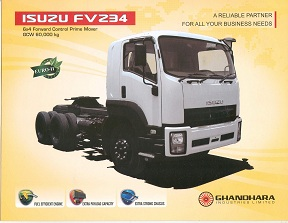 ISUZU FVZ34 6 x 4 Forward Control Prime Mover