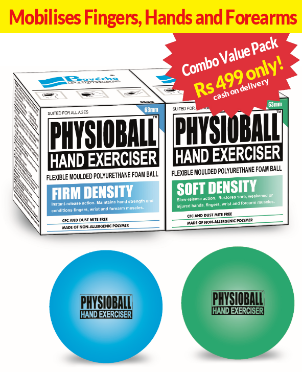 Buy Physioball Hand Exerciser - Pack of 2
