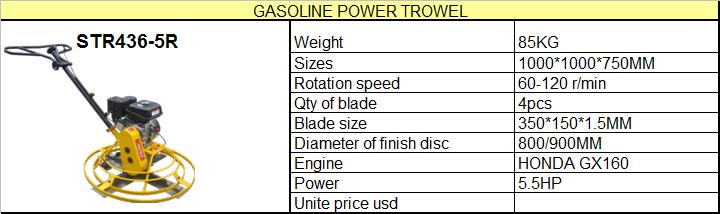 Buy Gasoline Concrete Power Trowel