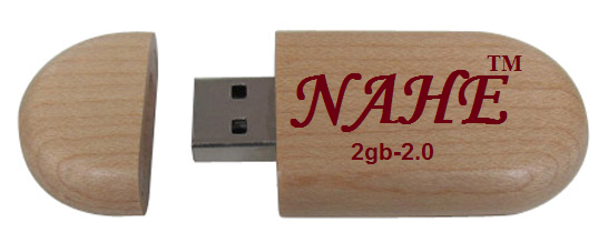 Buy 2gb Round Wooden USB Flash Drive