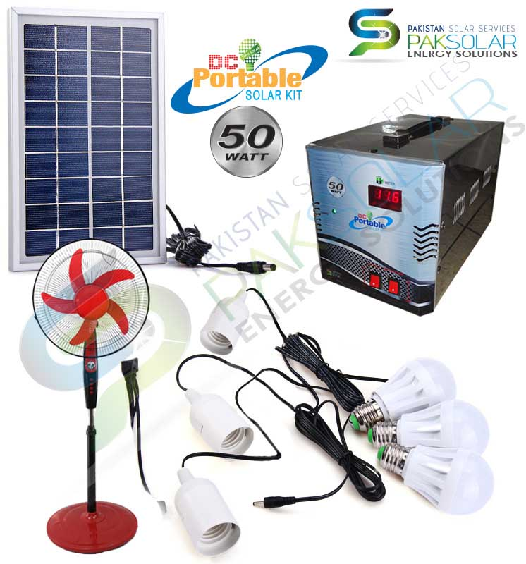 Buy 50W Portable DC Solar Kit System