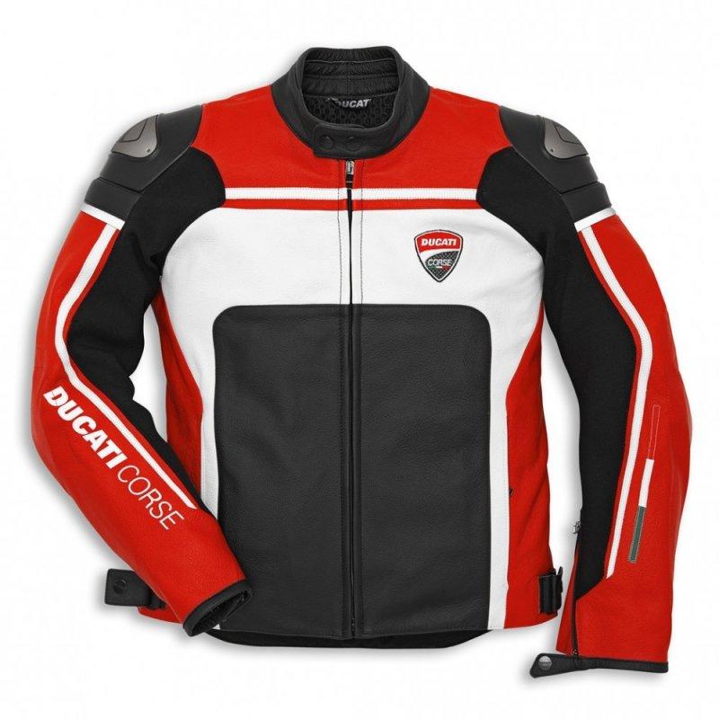 Buy Racing Ducati 1 Leather Motorcycle Jacket