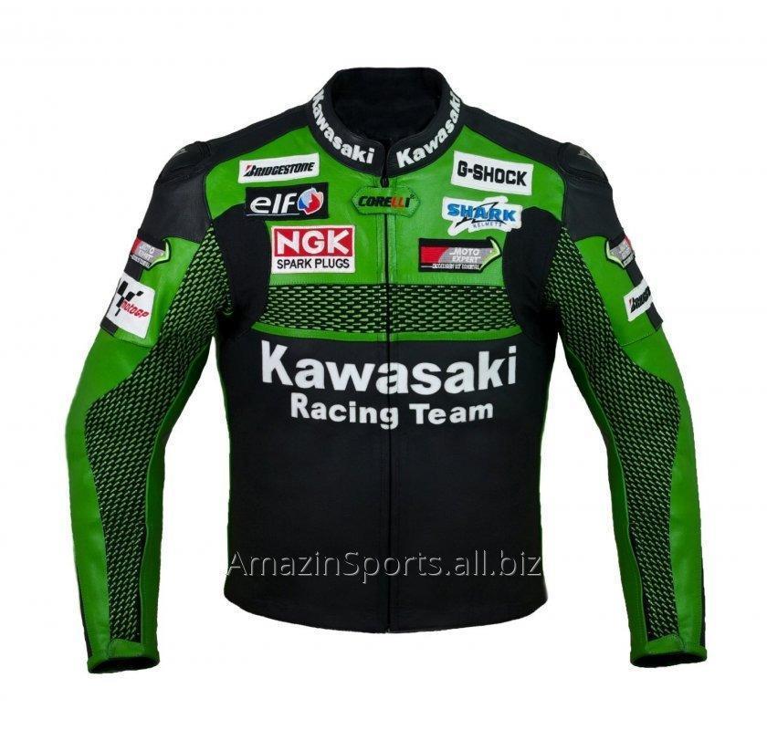 Buy Racing Kawasaki K1 Leather Motorcycle Jacket
