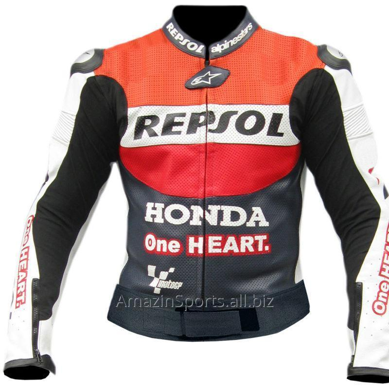Buy Racing D3 Leather Motorcycle Jacket