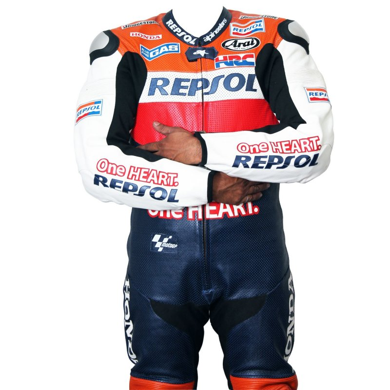 Buy Motorcycle leather suit for Professional Biker Repsol