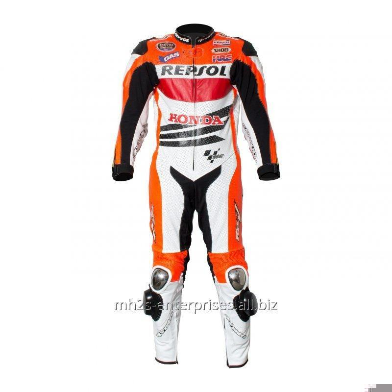 Buy Repsol Biker leather racing suit cowhide