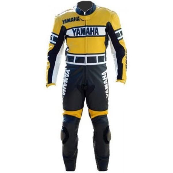 Buy Motorcycle leather suit for Professional Biker Jorge Lorenzo MotoGP Race Yamaha