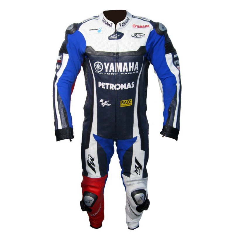 Buy Motorcycle leather suit for Professional Biker racing suit Yamaha