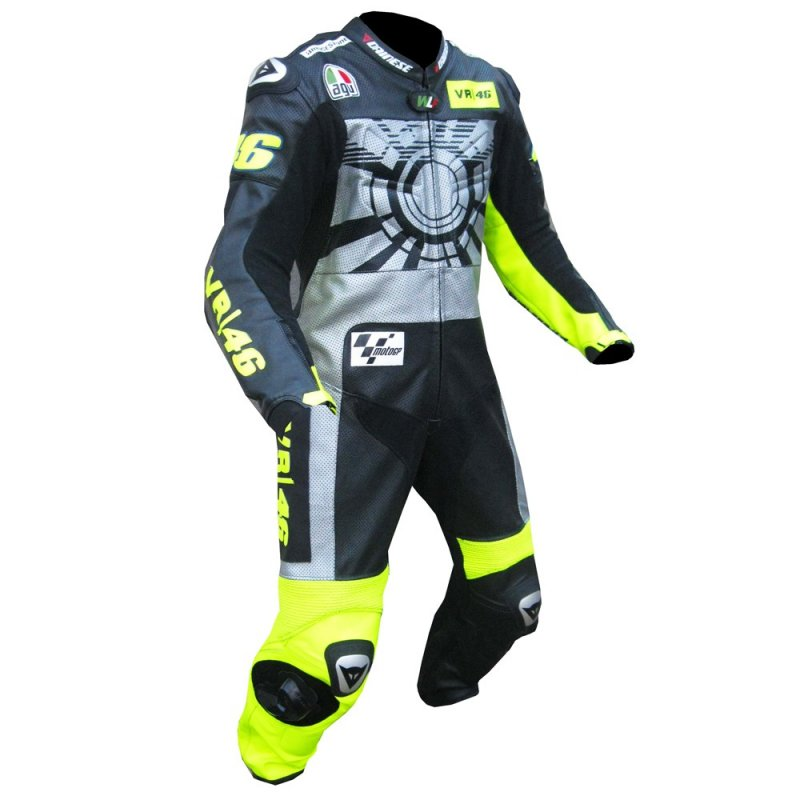 Buy Motorcycle leather suit for Professional Biker racing suit VR 46