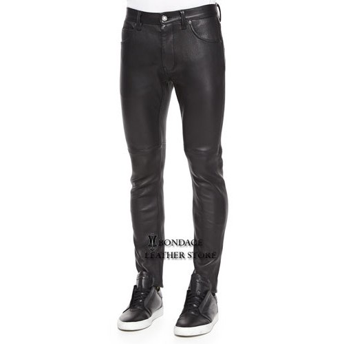 Buy Stretch-leather Skinny Pants