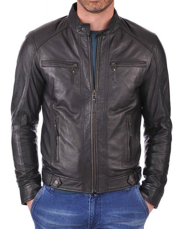 Buy The kays leather new fashion biker leather jacket
