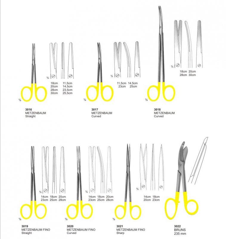 Buy Metzenbaum Scissors With Tungsten Carbide instruments pak surgical