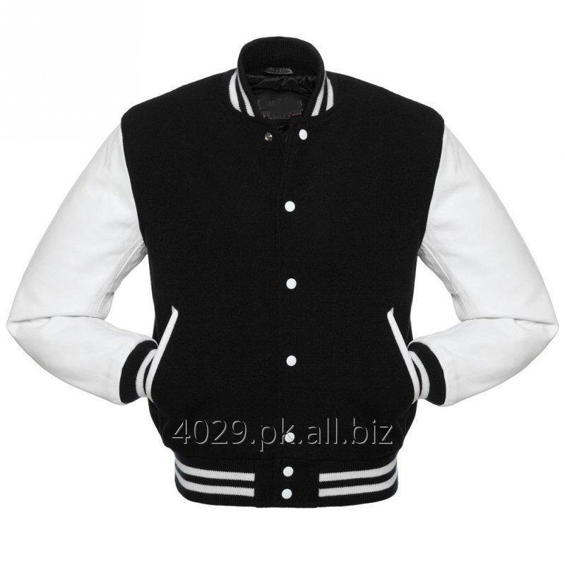 Buy MEN VARSITY BOMBER LEATHER JACKET