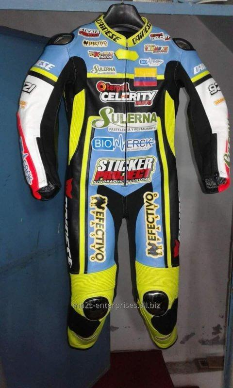 Buy Customized Motorbike racing suit cowhide leather