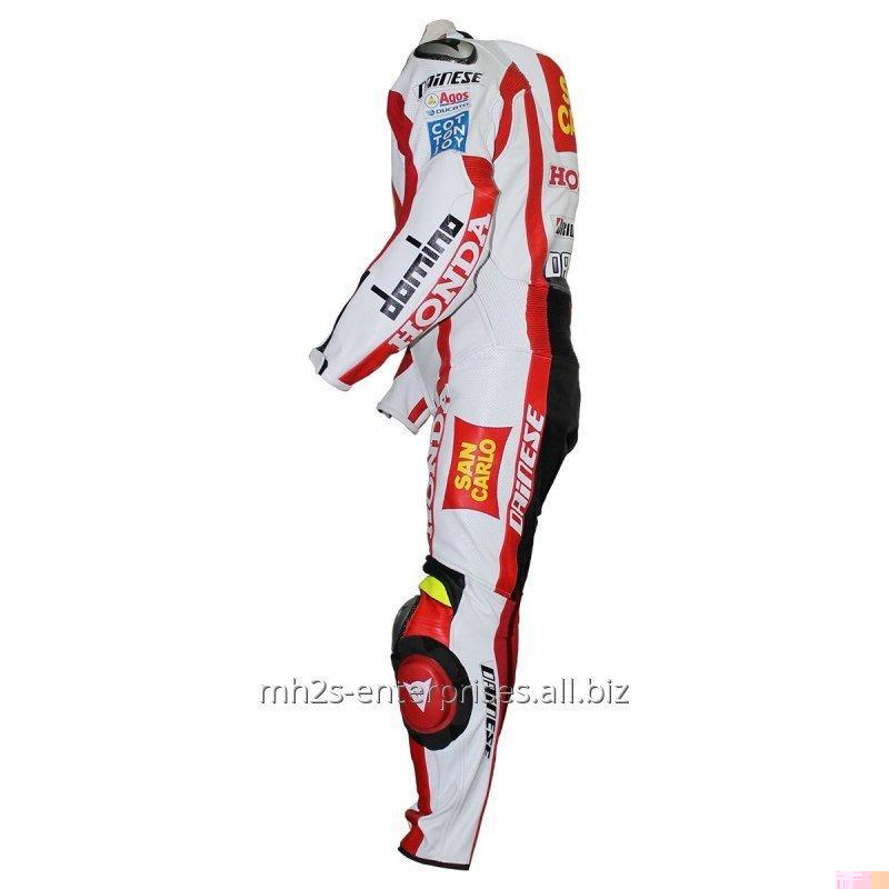 Buy Moto Biker leather racing suit Offer