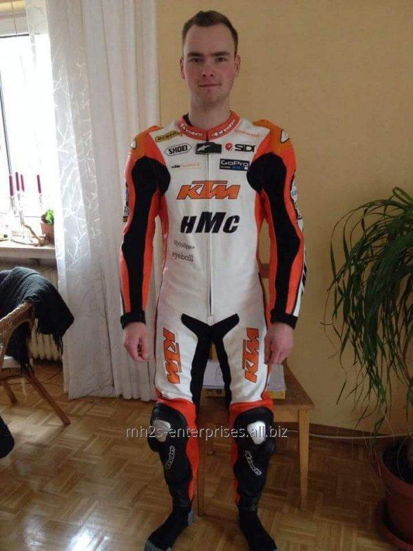 Buy Custom Motorbike racing suit cowhide leather