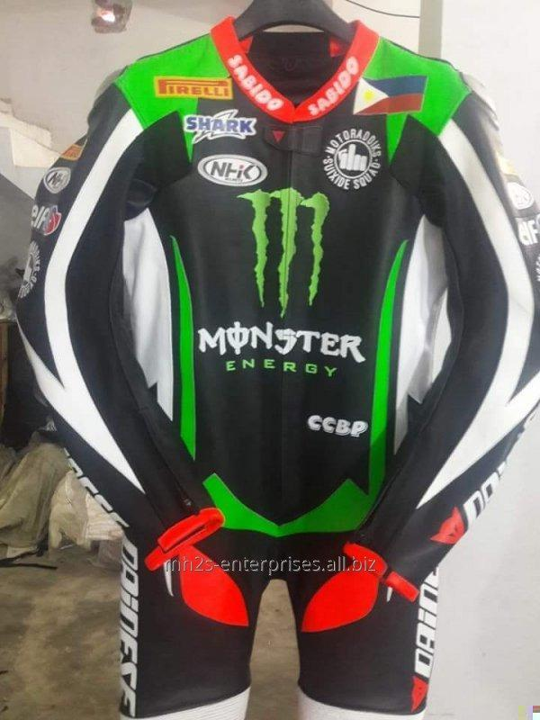 Buy Motorbike leather custom logo Racing Suit offer