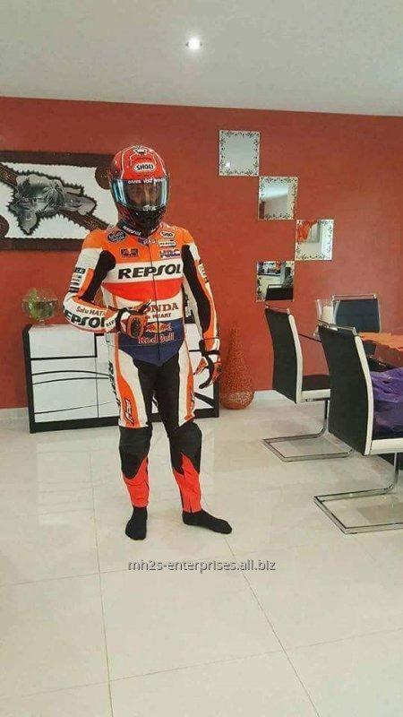 Buy Motorbike leather customized logo Suit
