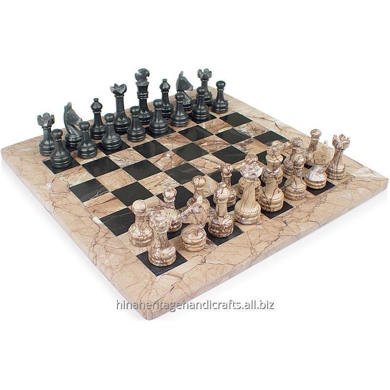 Buy Pink Marina & Black Marble Chess Set
