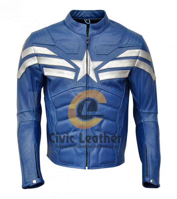 Buy Captain America Winter Soldier MotorBike Leather Jacket