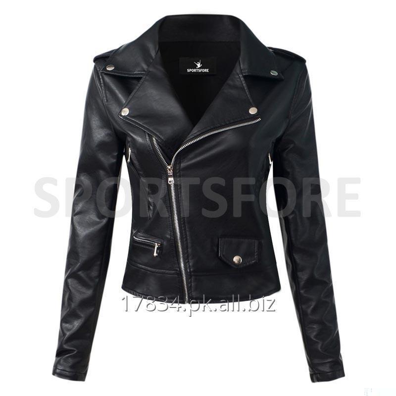 Buy Women Motorcycle Synthetic Leather Jacket
