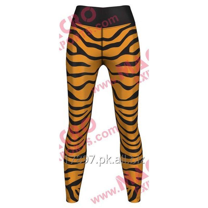 Buy Tiger Print Leggings For Women, High Quality Digital Printed Leggings, 73% Polyester or 27% Elastane,