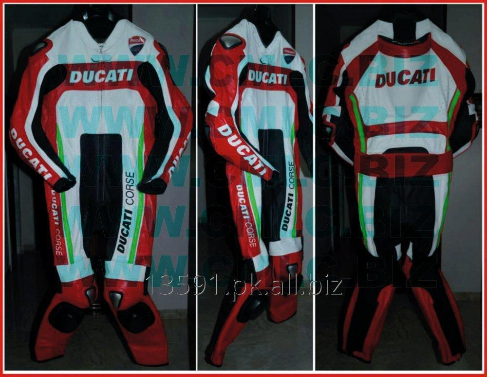 Buy DUCATI MOTOR BIKE LEATHER SUIT