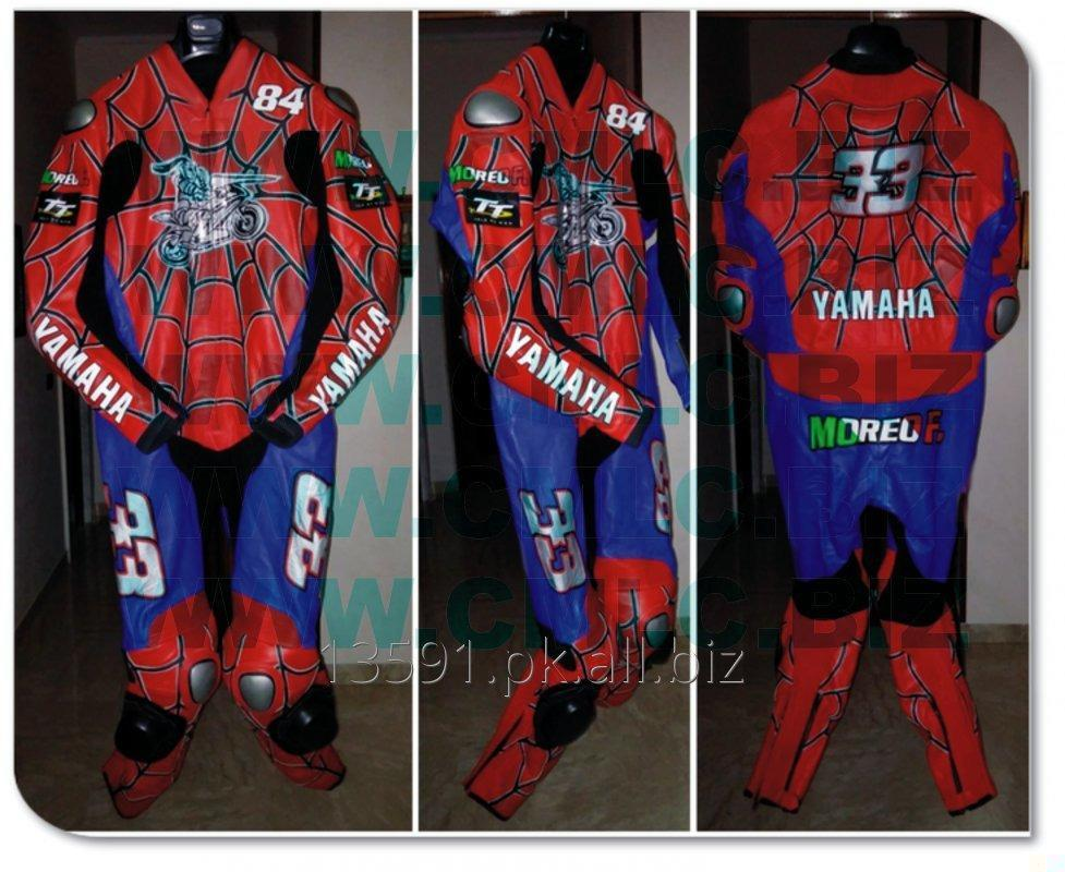 Buy SPIDER MAN MOTOR BIKE LEATHER SUIT