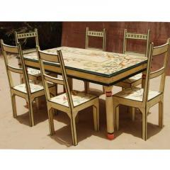Painted Dining Set For 6 Persons