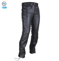 Leather Pants-Men Pants-Motorbike Leather Pants