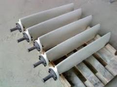 Blades of fiberglass cooling towers