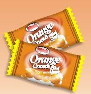 Orange crunch filled candy