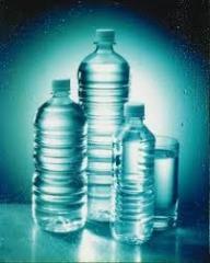 Bottles made of polyethylene, plastics