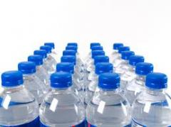 Bottles made of polyethylene, plastics