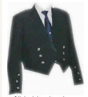 TTT-315. Prince Charlie Jacket, Black Wool, with a