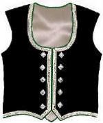 TTT-319. Ladies dancers braided vests silver or