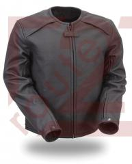 Motorbike Leather Jacket Made in our Premium Cow