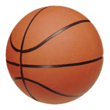 Basketball ball. The basketball is the game device