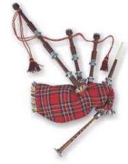 The bagpipe is a musical instrument, wind and