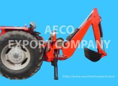 Backhoe loader with Massey Ferguson tractor