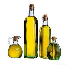 Sunflower oil bottled