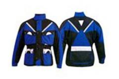 Blue Textile Jackets