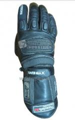 Motorbike Leather Gray Gloves